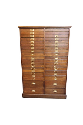 Oak Printers Cabinet
