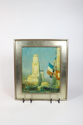 John William Morgan Signed Painting of New York City