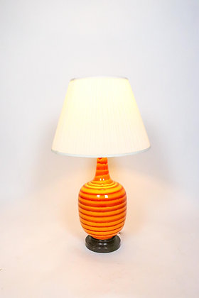 Mid-Century Modern Orange Lamp
