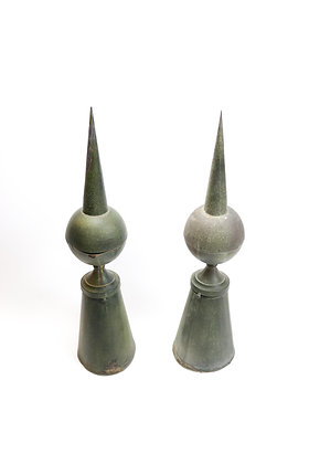Pair of Copper Garden Finials