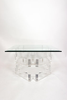 Mid-Century Modern Stacked Lucite Table