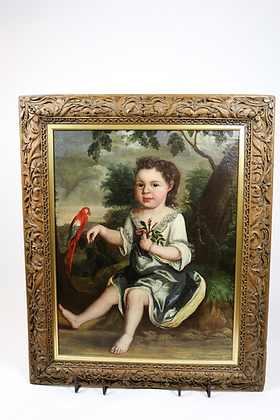 19th-Century Oil on Canvas Dutch Painting