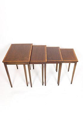 Walnut Nesting Tables with Crossbanding