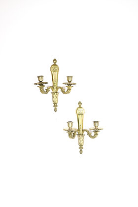 Pair of 19th-Century French Bronze Sconces