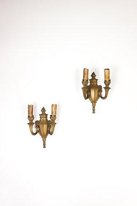 Pair of Shield-backed Sconces Circa 1900