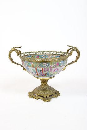Continental Ormolu Mandarin Centerpiece Bowl