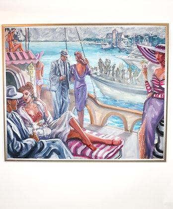 Large, Framed David Cochran Oil-On-Canvas