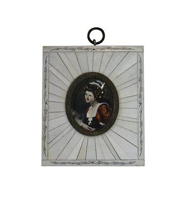 Lady Hamilton Ivory Frame