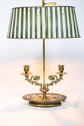 Double Candle-holder Brass and Tole Lamp
