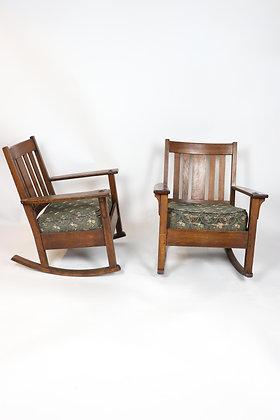 Pair of Rare Limbert Rocking Chairs