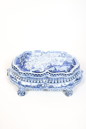 18th-Century French Faience Plateaue for Dining Table