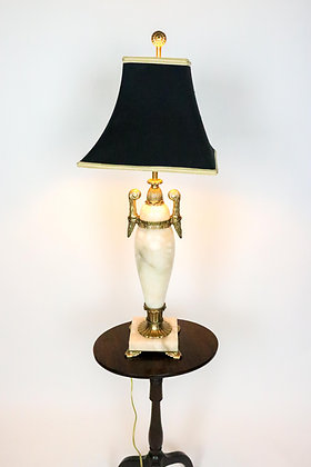 Chapman, Vintage Marble and Brass Lamp