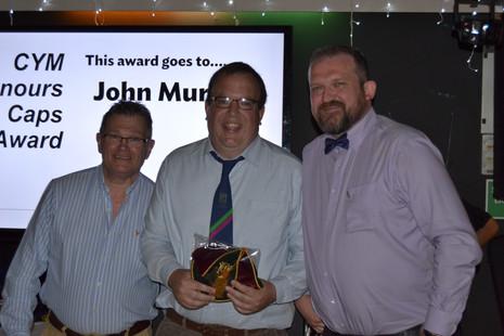 Honours Cap Award - John Murray