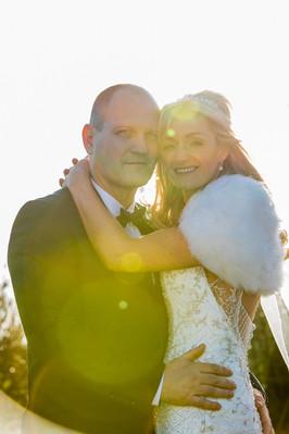 Backlit Wedding