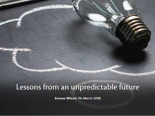 Lessons from an unpredictable future