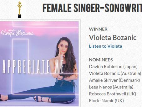 WINNER!!! INTERNATIONAL SONGWRITING AWARDS 2020/2021