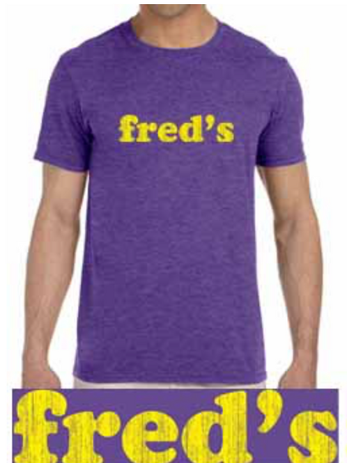 """fred's purple & gold"