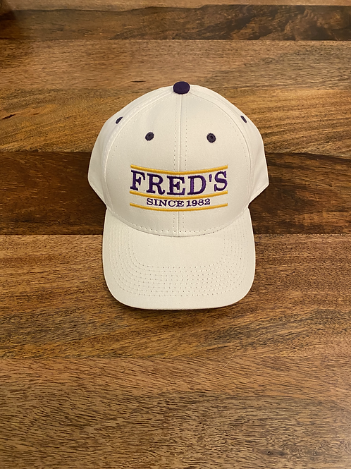 The Game* Fred's White Hat w/ P&G stiching