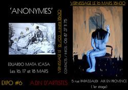 flyer officiel eduardo Mata Icasa Galerie ADN AIx en Provence 2018