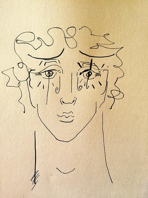 Autoportrait jeune ppeintre