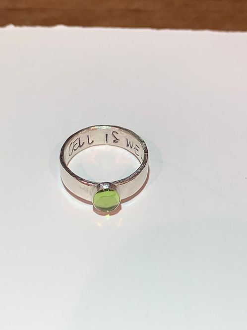 "The Libby Ring ""Every Cell Is Well"" - Be sure to make a note with ring size"