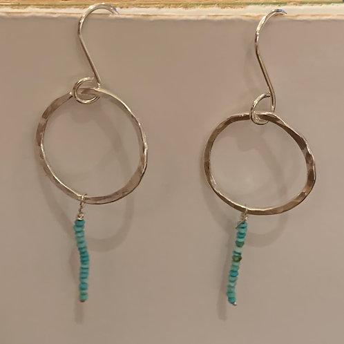 Delicate Turquoise Bead Earring