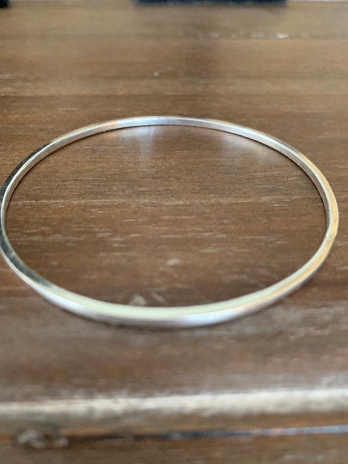 Simple stacking sterling bangle