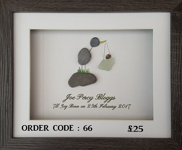New born pebble art for that joyous occasion of the new arrival