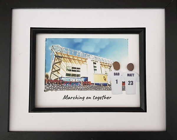 Leeds United fan gift idea going to Elland Road to watch Leeds Marching on together