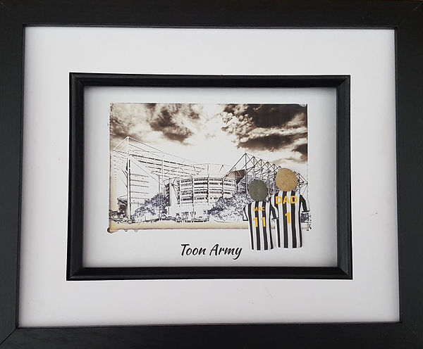 Newcastle United fan gift idea going to St James Park to watch The Toon