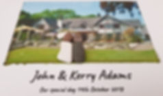 Unique wedding gift idea made in Mickleover Derbyshire