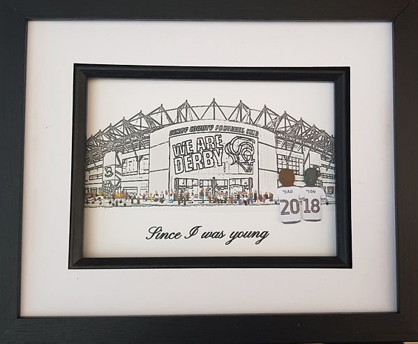 Derby County Fan gift idea. Going to the game at Pride Park. Rams fan gift