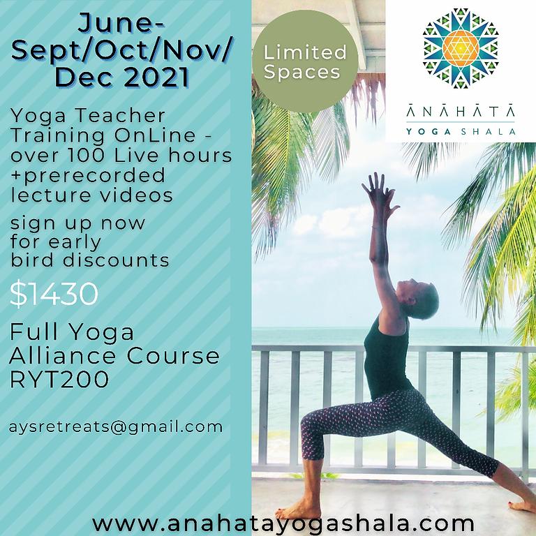 Online Part-time Yoga Teacher Training 2021