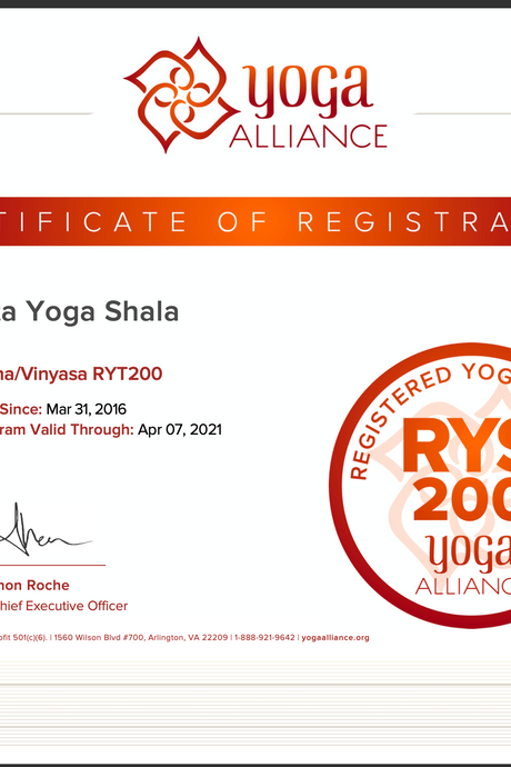 Anahata Yoga Shala - Online RYT200 - Yoga Alliance Teacher Trainings