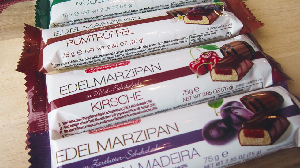 Flavoured Marzipan Bar