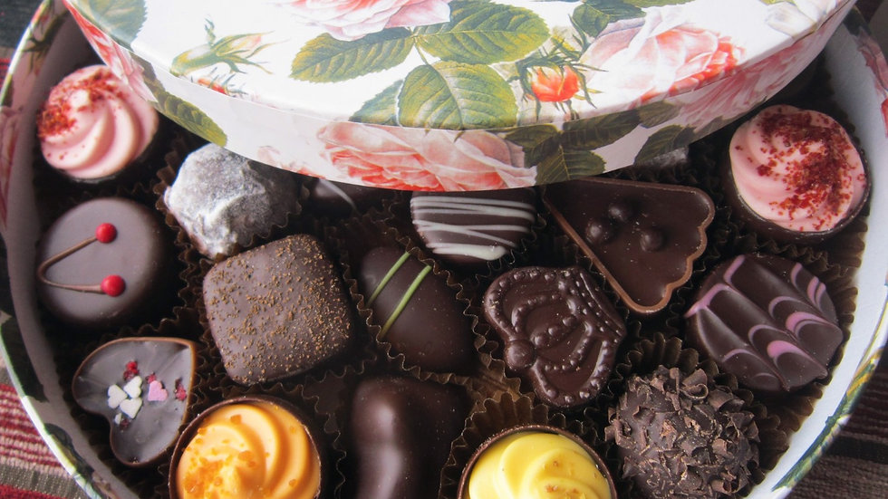All Dark Chocolate Floral Gift Box, Large