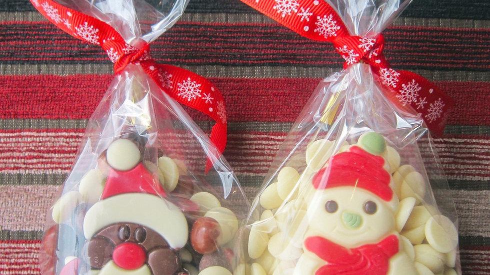Santa/ Snowman & Button Bag