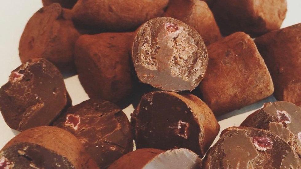 Cocoa Dusted Raspberry Truffles