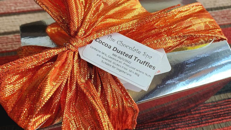 Cocoa Dusted Truffles in Ballotin Box,