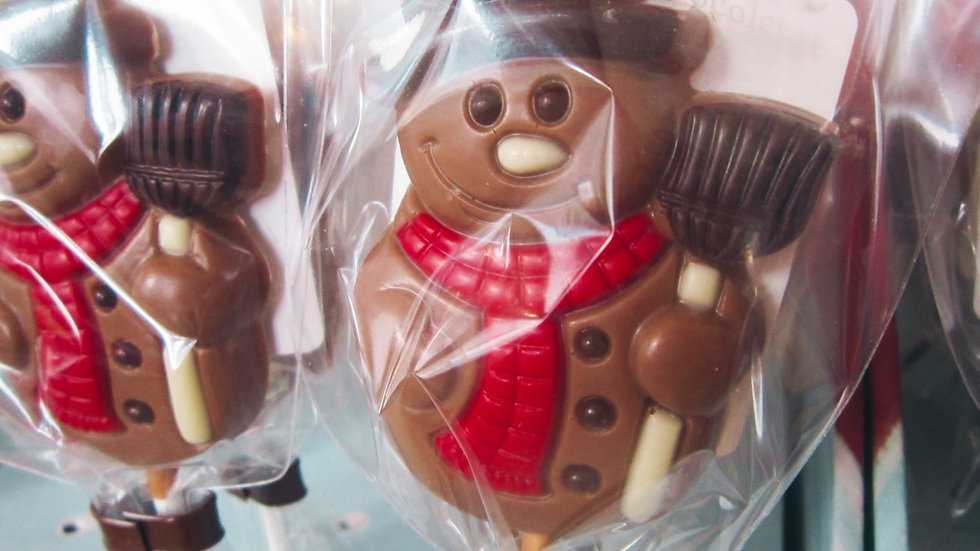 Milk Chocolate Snowman Lolly