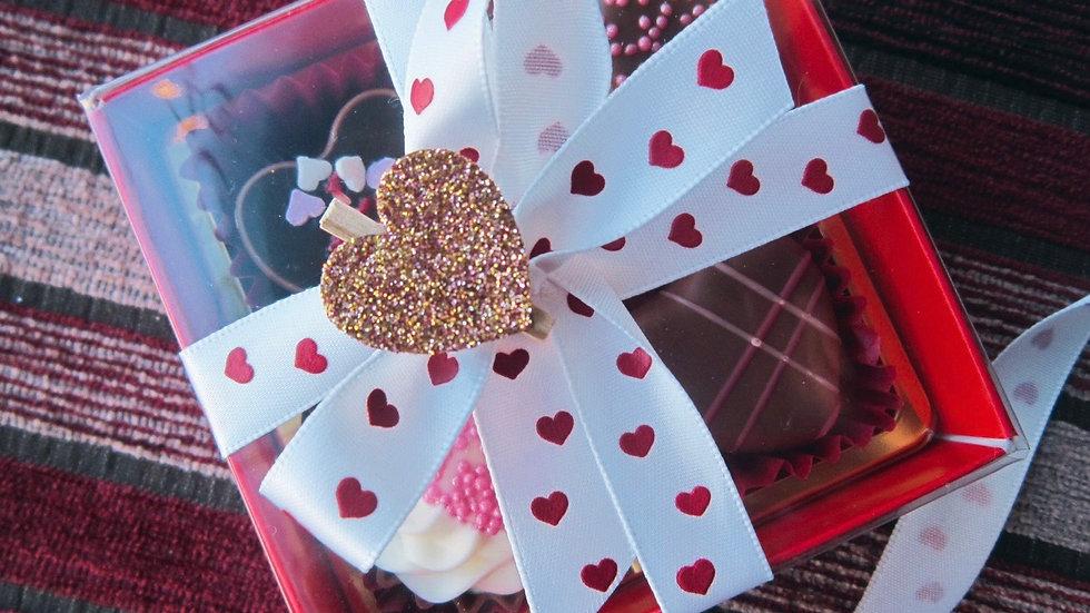 Love Heart 4 Chocolate Gift Box