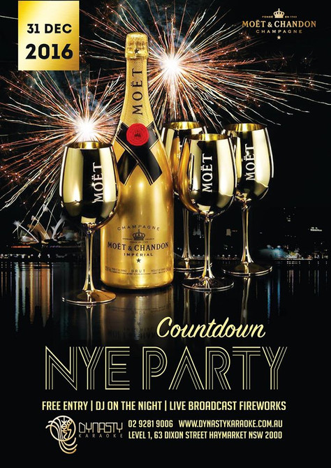 NYE GOLDEN COUNTDOWN PARTY