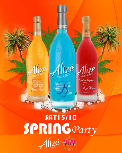 Alize presents- Spring Party SAT 15 OCT