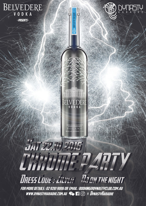 22 OCT Belvedere x Dynasty Chrome Party 2016