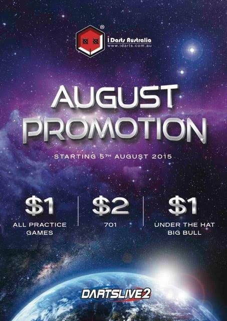 DARTSLIVE August promotion is here at Dynasty Karaoke!!