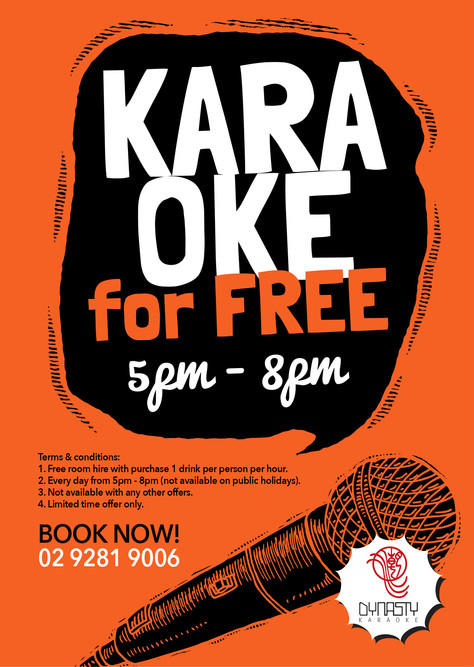 Sing for FREE! Free room hire from everyday 5-8pm
