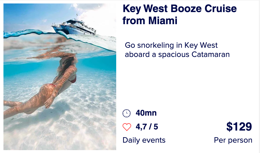 Key west booze cruise from miami