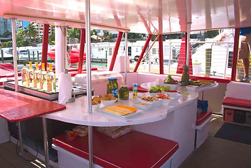 Buffet in a booze cruise