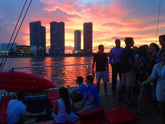 sunset boat party miami