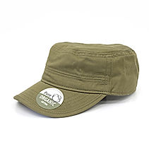 Organic Cotton Army Caps washed olive.JP